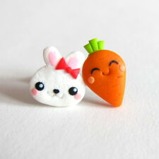 Easter Bunny Gifts For Kids Girls Food Outfit Rabbit Carrot Funny Cute Earrings