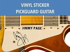 JIMMY PAGE BLACK TWO STICKER PICKGUARD : DESIGN & NAME FOR GUITAR LED ZEPPELIN