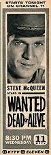 1960'S KTTV TV AD~STEVE MCQUEEN~WANTED DEAD,OR ALIVE TV WESTERN SERIES