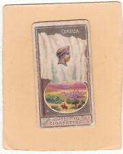 ALLEN & GINTER VERY SCARCE.TYPE CARD FROM CITY FLAGS CORSICA.  ISSUED. 1888