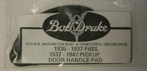 NOS Ford Outside Door Handle Pad Gasket 1935-1947 Repro New Bob Drake Vtg