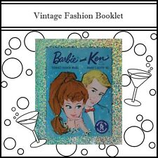 Barbie And Ken Vintage Fashion Booklet For The Adult Collector!