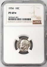 1956 Proof Roosevelt Dime certified PF 69 STAR by NGC!