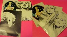 6  MARILYN MONROE Postcard drawings by  Milo Manara 1985
