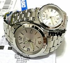 CASIO QUARTZ ANALOG DRESS COUPLE LOVER PAIR DATE WATCH MTP/ LTP-1215A-7A GIFT
