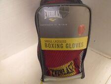 Everlast Laceless Boxing Gloves Advanced Sz Small Model 3003 Euc