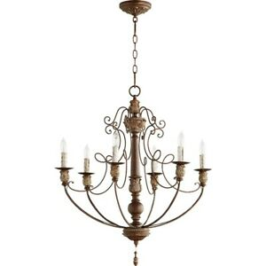 Quorum Salento 6 Light Chandelier, Vintage Copper - 6106-6-39