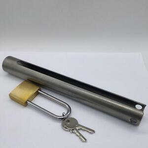 Outboard motor s/s tube lock 250 mm long with brass padlock