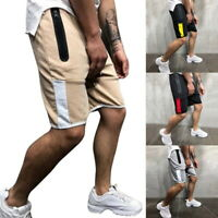 Men Casual Gym Sport Shorts Jogging Side Strip Outwork Summer Beachwear Pants GI