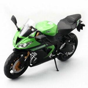 1:12 Kawasaki Ninja ZX-6R Motorcycle Model Plastic Motorbike Boys Gift Green