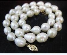 "AA+ REAL 18""7-8mm AA+ AKOYA WHITE baroque PEARL NECKLACE AA"