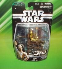 STAR WARS AOTC SAGA SERIES #042 C-3PO WITH EWOK THRONE BATTLE OF ENDOR FIGURE