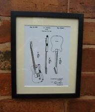 USA Patent Drawing  FENDER TELECASTER GUITAR music MOUNTED PRINT 1951 Gift