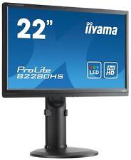"21.5"" iiyama ProLite E2280HS Monitor, TN Panel, 1920x1080, 5ms, 250cd/m² HDMI"