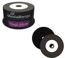 50 x MEDIARANGE inférieure noire en vinyle blanc CD-R imprimable CD vierge 52 X 700 MO mr226