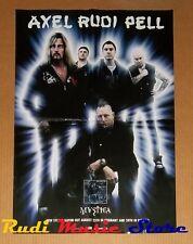 POSTER rock PROMO AXEL RUDI PELL MYSTICA 59,5 X 42cm NO cd dvd vhs lp live mc