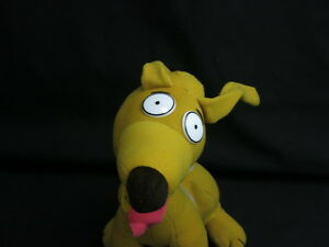 APPLAUSE 1996 RUGRATS PUPPY DOG SPIKE MUSTARD YELLOW BROWN PLUSH STUFFED ANIMAL