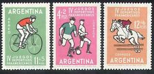 Argentina 1963 Sports/Football/Horse/Cycling 3v (b9835)