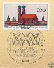 BRD 1994: Frauenkirche München Nr. 1731 mit Bonner Ersttagsstempel! 1A 1604