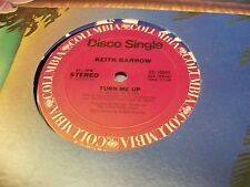 "Keith Barrow-Turn Me Up-12"" Single-Disco-Columbia-Vinyl Record-VG+"