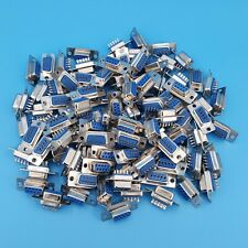 100Pcs DB9 D-SUB Female RS232 Serial Port 9Pin Wire Solder Plug Connector