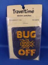 Bug Off Denim Patch Beetle Lady Bug Hippy Vintage Souvenir Collector Badge
