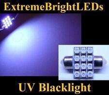 ONE UV Blacklight DE3175 DE3022 31mm Map Dome 12-SMD LED Lights #97C
