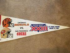 1989 Super Bowl 23 Pennant Flag ( San Francisco 49ers Vs Cincinnati Bangles)