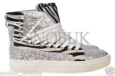Womens  Wet look Concealed Wedge Trainers Sneakers High Tops Ankle Boots Shoes