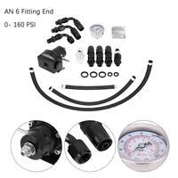 0-160PSI EFI Fuel Injection Pressure Tester Regulator AN6 Fitting End Adjustable