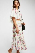 Free People Don't Kill My Vibe Embroidered two Piece Maxi Skirt Set Size S M
