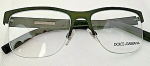 Dolce & Gabbana DG 1272 Rimless 1275 Eyeglasses Frames Made In ITALY green army