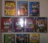 The Sims 2 Lot of 10 PC CD DVD Video Games Expansion Packs EA Set