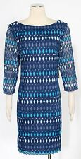 Jessica Howard Blue Turquoise Dress Size 16 Cocktail Lace Sheath Women's New*