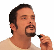 TWO Mens Temporary Colour Masacara Beard Moustache Eyebrows Sideburns BLACK