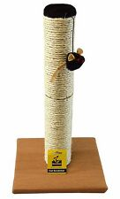 Interactive Cat Scratching Post Pole with Sisal Teaser Exerciser for Cats Kitty