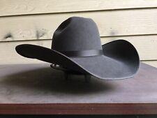 6X Gray Western Rodeo Cowboy Hat 7 1/8 57cm Vintage Bull Rider Rugged Grey