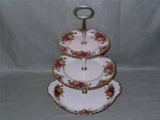 Royal Albert Old Country Roses 3-Tier Hostess CAKE STAND Piatto per torta