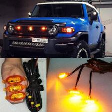 For Toyota FJ Cruiser 2007-2014 Amber LED Car Truck Front Grille Light Kit 3pcs