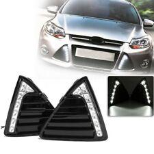 Pair For 11-14 Ford Focus 7 LED Daytime Running DRL Light Fog Lamps Turn Signal