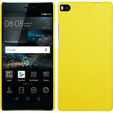 Custodia Rigida Huawei P8 - gommata giallo + pellicola protettiva