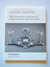 Sotheby's Arcade Auction Catalog #1539 June 21, 1996 Silver Furniture Rugs