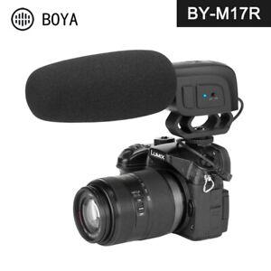 BOYA BY-M17R On-camera Shotgun Microphone Super-cardioid Condenser Mic