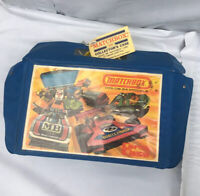 1976 MATCHBOX LESNEY 24 CAR CARRYING CASE W/ 10 Vtg 60s-70s CARS + Original tag.