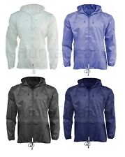 Rain Mac Lightweight Unisex Hooded Kagoul Raincoat Jacket Kagool Showerproof New