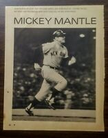 Mickey Mantle New York Yankees 1968 Vintage Magazine Clipping Scrapbook Photo