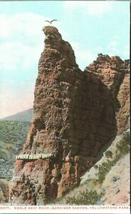 EAGLE NEST ROCK, GARDINER CANYON, YELLOWSTONE PARK  Postcard Haynes10071 trimmed