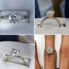 1.5 Carats Moissanite Classic Solitaire Ring.
