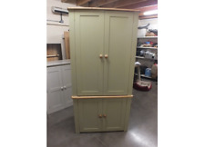 LARGE PAINTED LINEN STORAGE CUPBOARD BESPOKE SIZES & COLOURS - F&B BALL GREEN