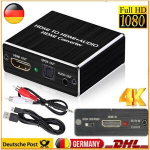 1080P HDMI Zu HDMI Optisch SPDIF+RCA R/L Audio Extractor Konverter Splitter